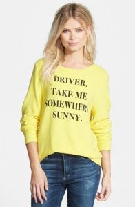 Wildfox Couture 'Somewhere Sunny' Sweatshirt  Nordstrom $98 